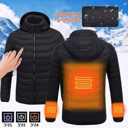 USB Heater Hunting Vest Heated Jacket Heating Coat Winter Cl