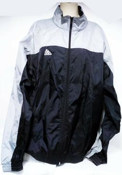 Vintage Adidas Jacket Mens XXL 2XL Windbreaker Full Zip Nylo