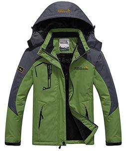 JINSHI Men's Waterproof Windproof Fleece Ski Jacket Outdoor