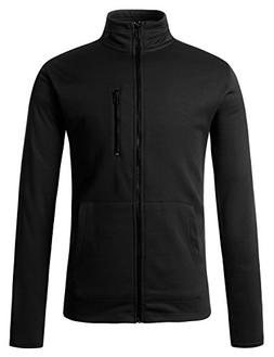 Regna X Mens Zipped Pockets Track Black Medium Fleece Chest