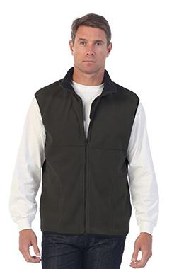 Gioberti Men's Full Zipper Polar Fleece Vest, Heather Charco
